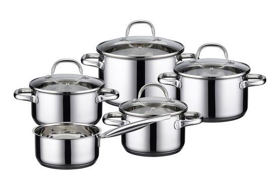 Elo - Meine Küche Topf-Set »Kallisto«, Edelstahl, (Set, 9-tlg)