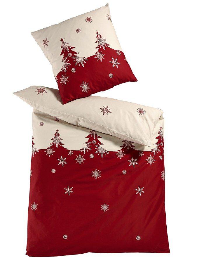heine home Designer-Bettwäsche in weiß/rot