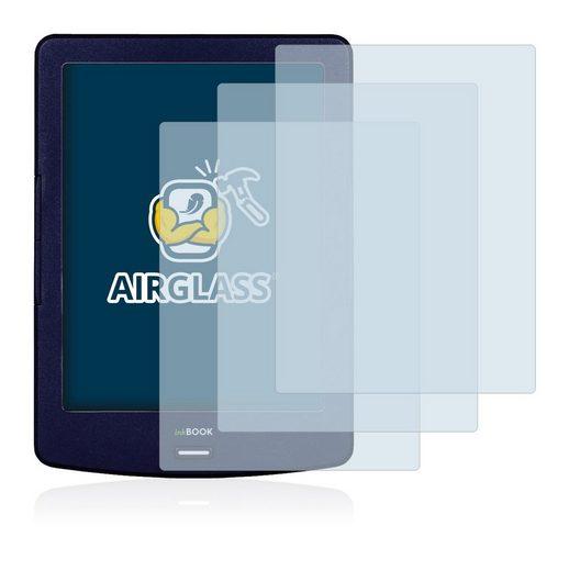 BROTECT Schutzfolie »Panzerglasfolie für inkBOOK Lumos«, (3 Stück), Schutzglas Glasfolie klar