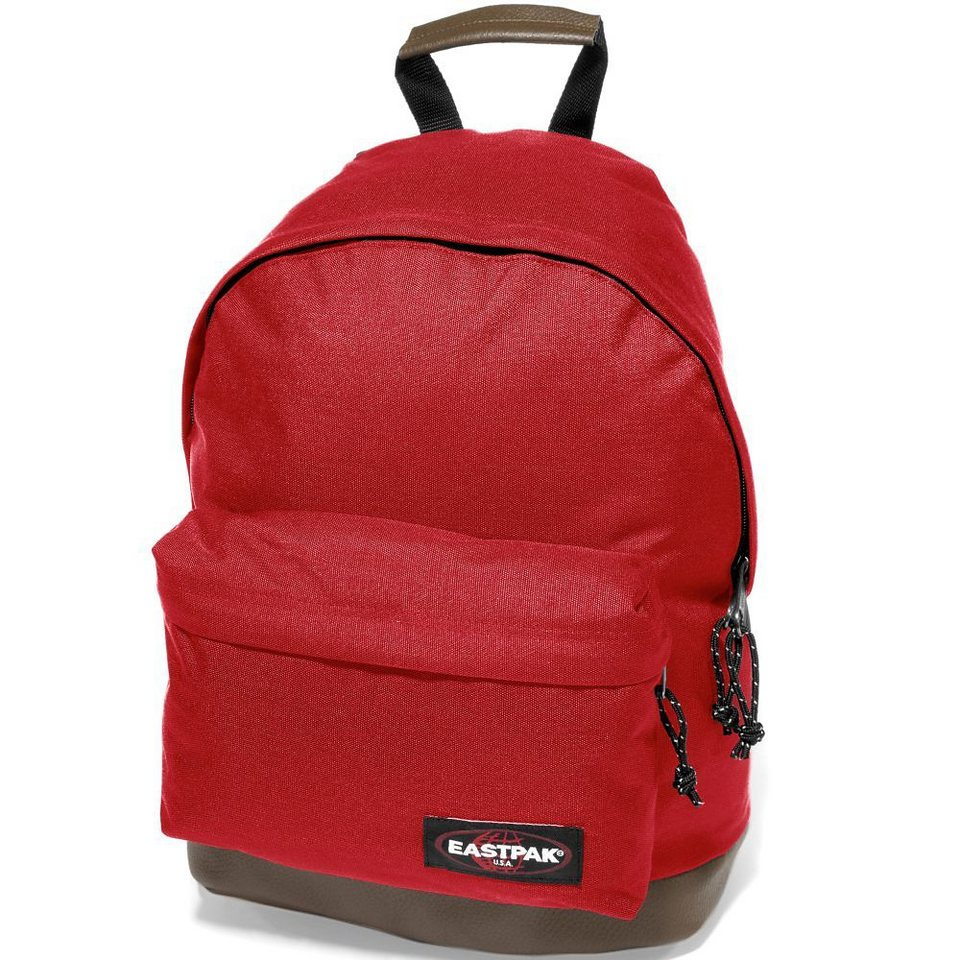 Eastpak Authentic Collection Wyoming Rucksack mit Leder 40 cm in chuppachop red