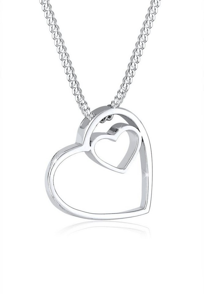 Elli Halskette »Herzen Basic Anhänger 925 Silber« in Silber