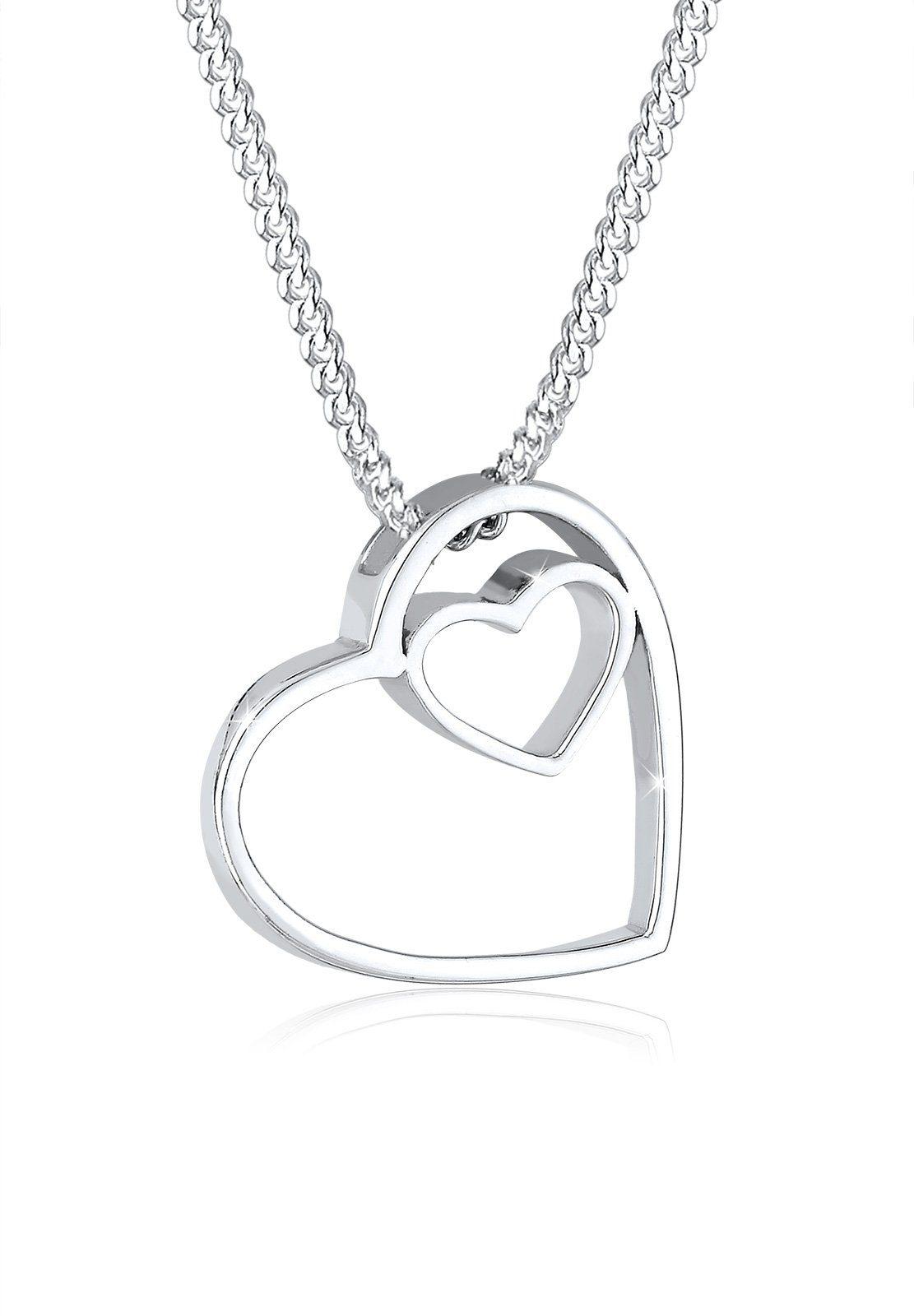 Elli Halskette »Cut Out Herzen Basic Anhänger 925 Silber«