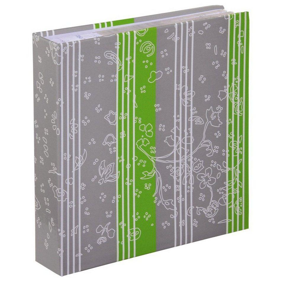 Hama Memo-Album Curly, für 200 Fotos im Format 10x15 cm, Limette in Grau