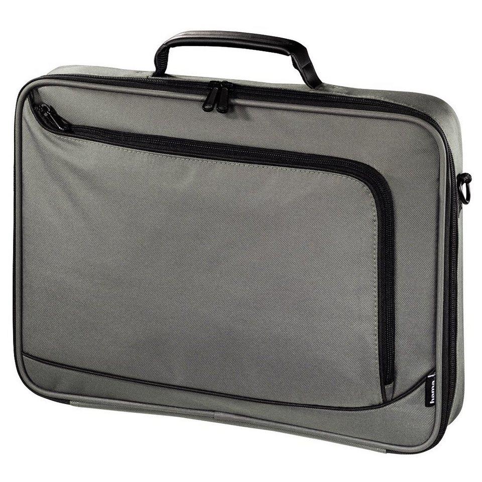 Hama Notebook-Tasche Sportsline Bordeaux Style, bis 44 cm (17,3) in Grau