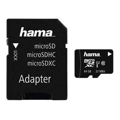 Hama microSDXC 64 GB Class 10 UHS-I 22MB/s +Adapter/Mobile »SD 3.0 Karte Memory Card«