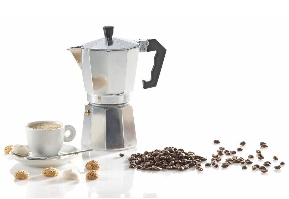 Espressokocher, Krüger in silberfarben