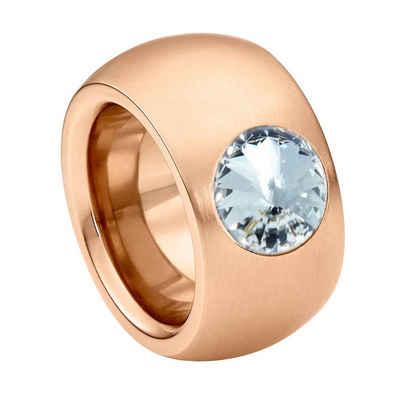 Heideman Fingerring »Coma 14 Roségold« (1-tlg), Damenring mit Stein weiss oder farbig