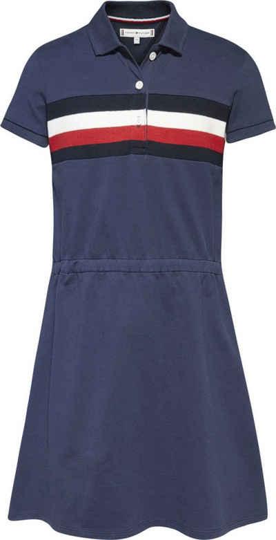 Tommy Hilfiger Jerseykleid »PIQUE POLO DRESS S/S« Polokleid mit Einsätzen