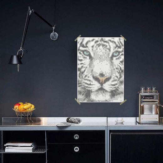 Dot On Malvorlage »dot on art - tiger, 50 x 70 cm«