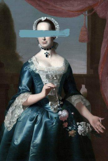 queence Acrylglasbild »Frau«