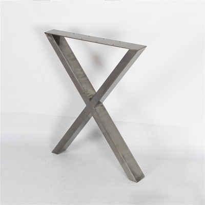Steelboxx Tischbein »Tischkufen Tischgestell X Design Tischbeine 2er«, Lieferumfang: 2 Tischgestelle und Montagematerial