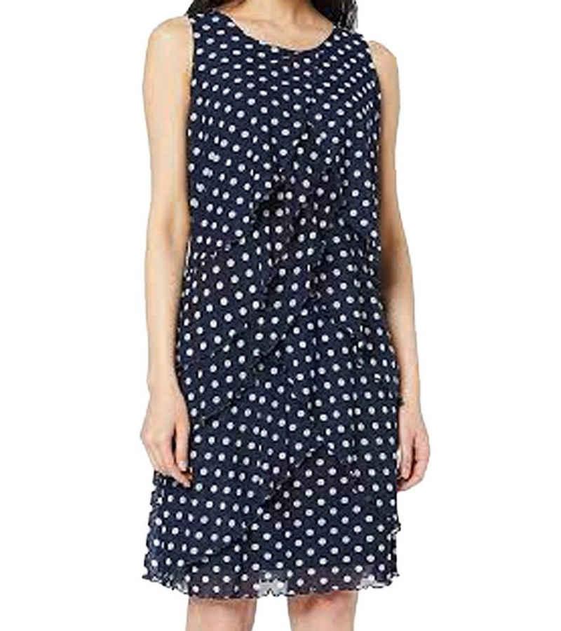 Taifun Sommerkleid »TAIFUN Midi-Kleid modisches Damen Freizeit-Kleid mit Punkte-Muster Mode-Kleid Blau«
