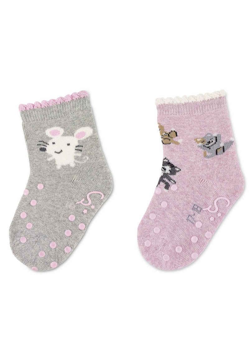 Sterntaler® ABS-Socken »ABS-Krabbelsöckchen DP Maus« waschbar, Vollplüsch