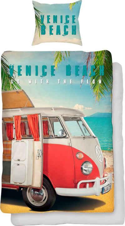 Wendebettwäsche »Venice Beach«, Volkswagen, mit Auto