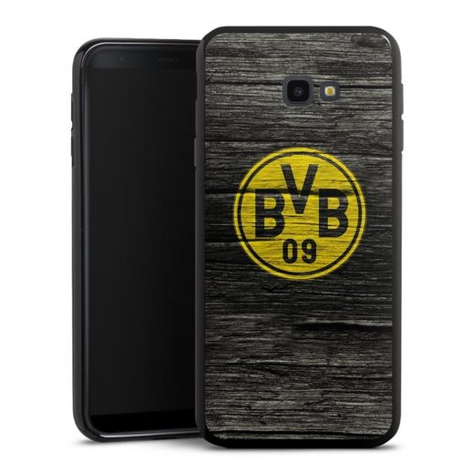 DeinDesign Handyhülle »BVB Holzoptik« Samsung Galaxy J4 Plus (2018), Hülle Borussia Dortmund BVB Holzoptik