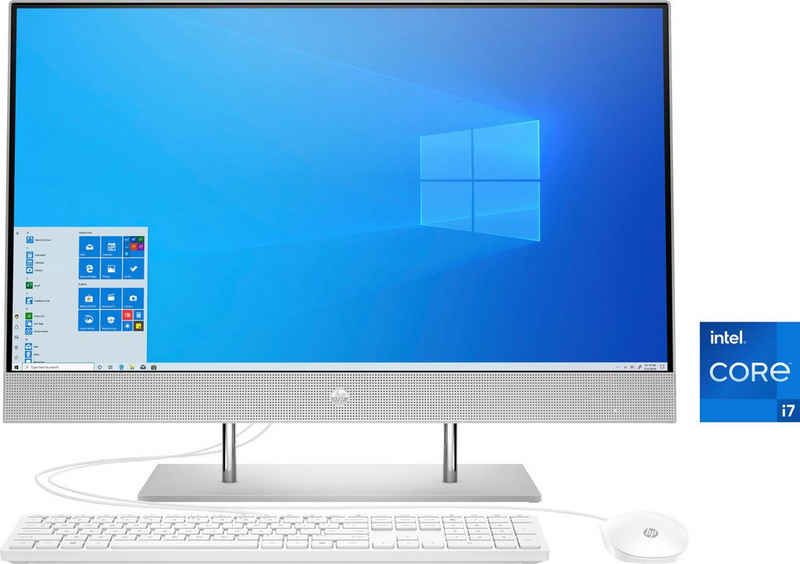 HP Pavilion 27-dp1201ng All-in-One PC (27 Zoll, Intel Core i7 1165G7, Iris® Xe Graphics, 8 GB RAM, 1000 GB HDD, 512 GB SSD, Luftkühlung)