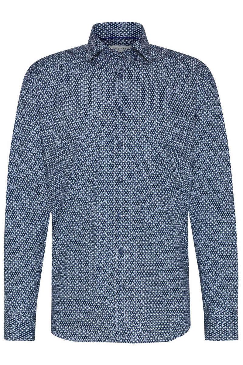 bugatti Langarmhemd im kreativen Design mit Kent-Kragen