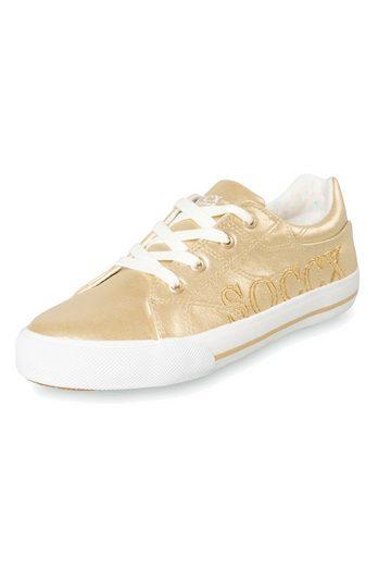 SOCCX Sneaker im Metallic-Glanz