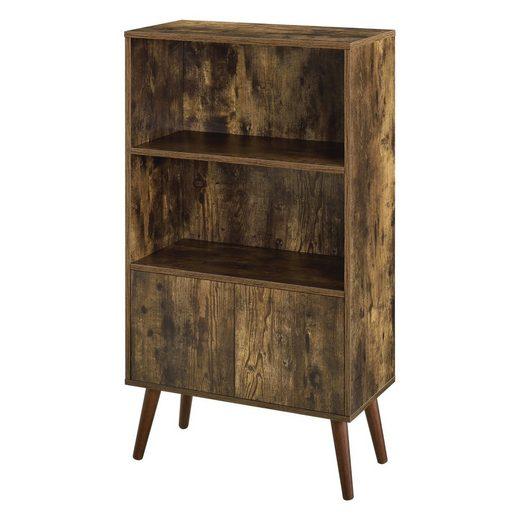 en.casa Bücherregal, Mehrzweckregal, »Ängelholm« Bücherschrank mit Ablagen 113x60x30cm Holzfarben