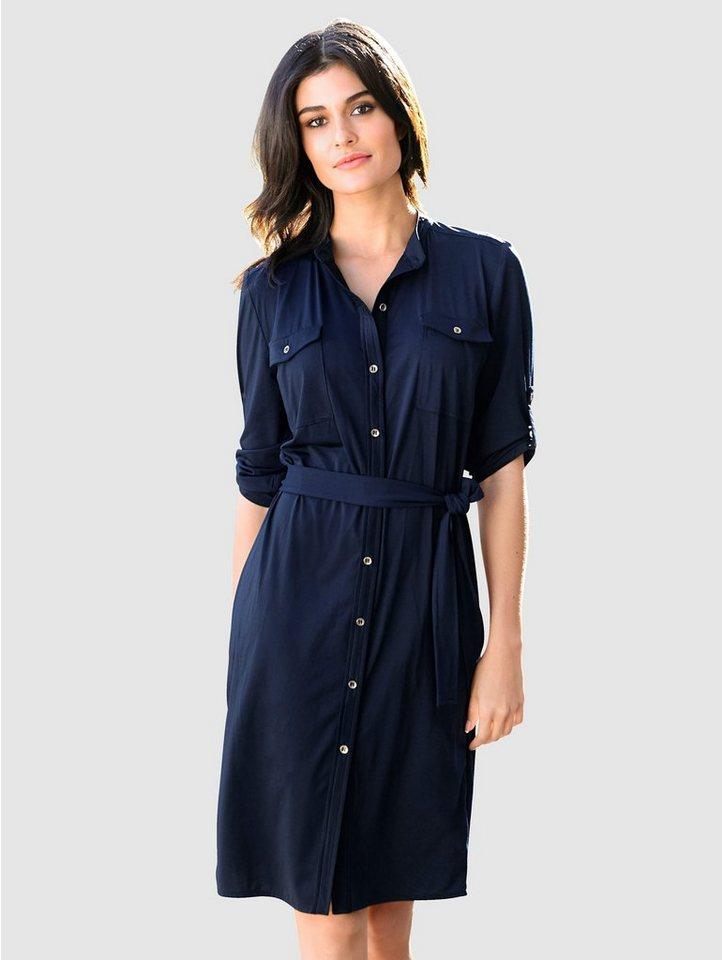 alba moda -  Hemdblusenkleid mit kleinem Stehkragen