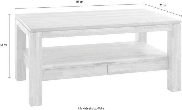Wohnzimmertische - MCA furniture Couchtisch, Couchtisch Massivholz mit Schubladen  - Onlineshop OTTO