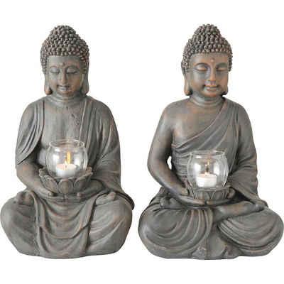 """BOLTZE Windlicht »2er-Set Windlicht """"Buddha"""" 26 x 25 x 41 cm«"""