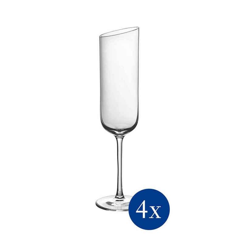 Villeroy & Boch Sektglas »NewMoon Sektkelch 4er Set«, Glas