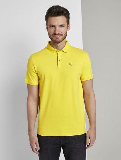 TOM TAILOR Poloshirt »Schlichtes Poloshirt mit kleinem Print«