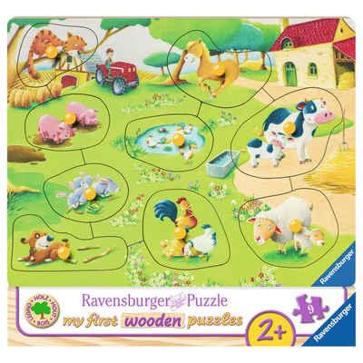 Ravensburger Puzzle »Kleiner Bauernhof - My First Wooden Puzzles«, 9 Puzzleteile