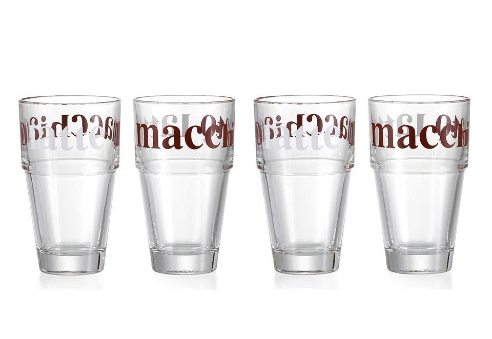 Latte-Macchiato Becher-Set , 4-teilig, »BROWN COFFEE«