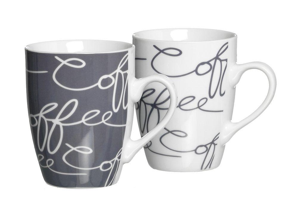 Kaffeebecher-Set, Ritzenhoff & Breker, »Cornello Grey« (2 Stck.)