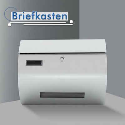 OUBO Briefkasten, aus Stahlblech, mit Öffnungsstopp