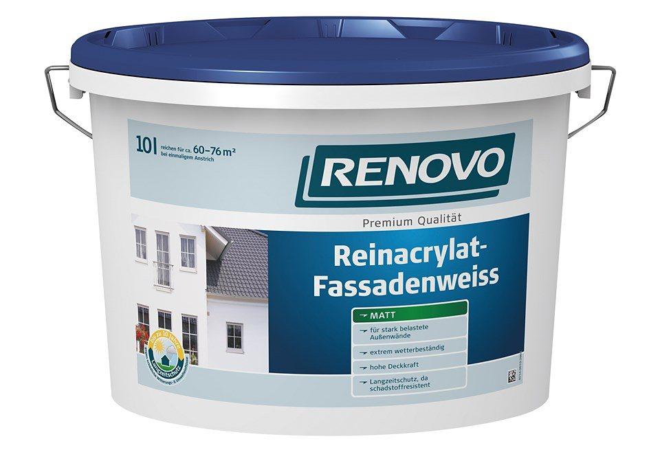 Reinacrylat Fassadenweiß,10 Liter in weiß