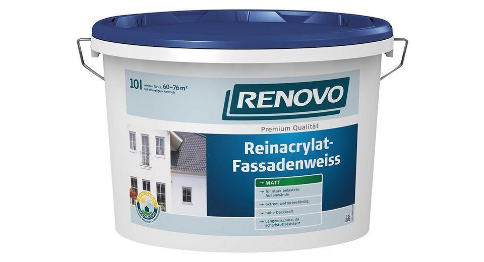 Reinacrylat Fassadenweiß,10 Liter