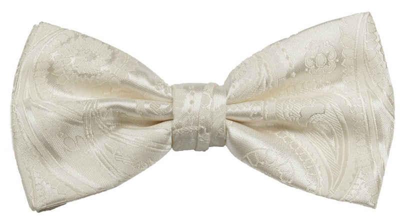 Paul Malone Fliege »Herren Schleife modern elegant festlich paisley Hochzeit« Fliege-V44 (mit Karton), ivory