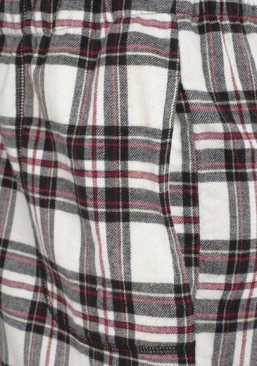Mit Karierter weiß rot Flanellhose Dreams Pyjama Vivance Schwarz 08nmvNw