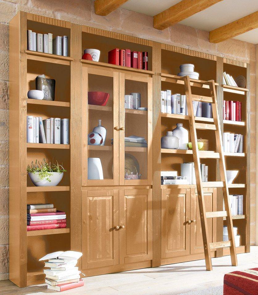 Home affaire, Bücherwand »Bergen«, Breite 255 cm in gelaugt/geölt