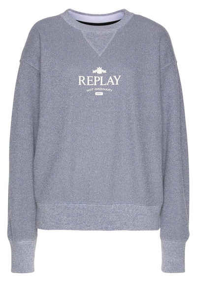 "Replay Sweatshirt mit ""Replay"" Schirftzug"