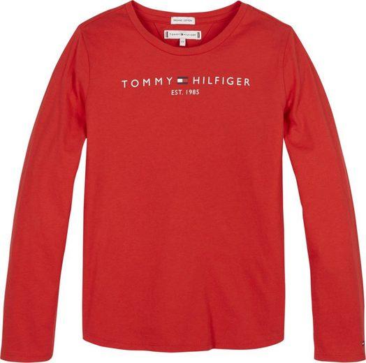 TOMMY HILFIGER Langarmshirt »ESSENTIAL TEE« in Basicform