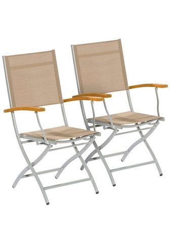 MERXX Sodo kėdė »Naxos« Eukalyptusholz/Texti...