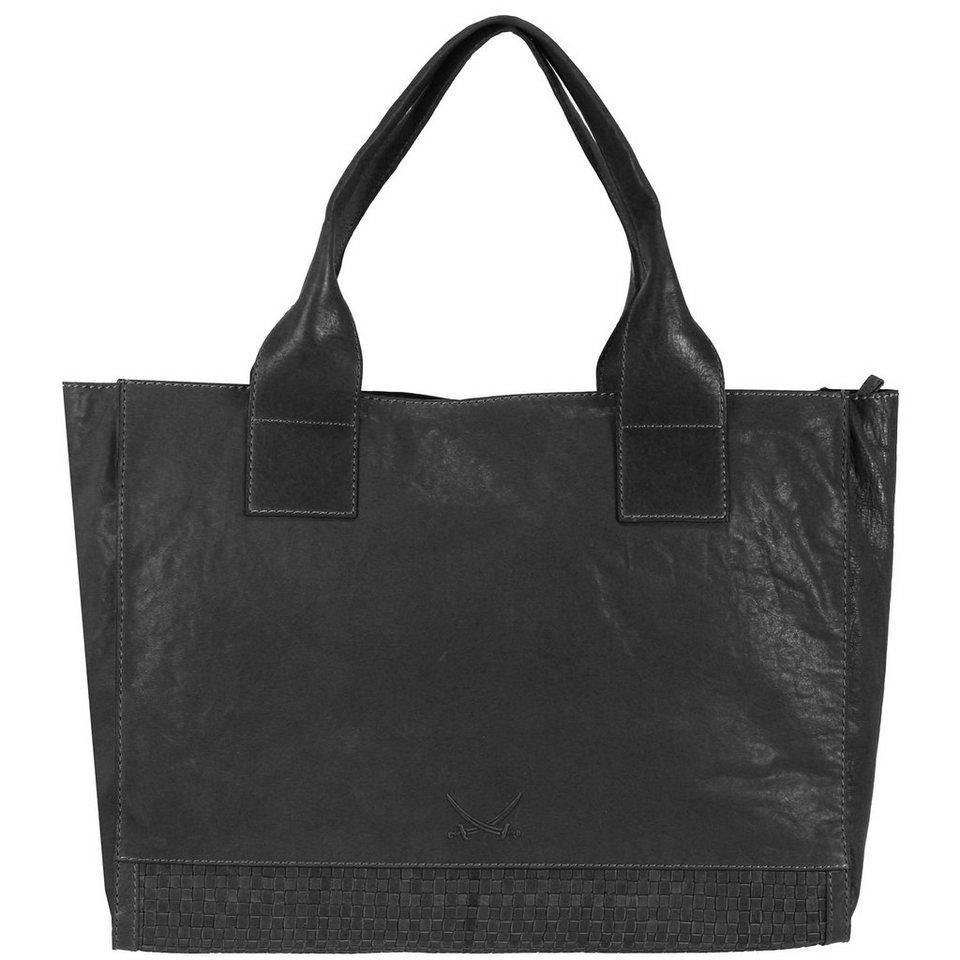 Sansibar Sunndal Henkeltasche Leder 39,5 cm in black