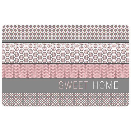 Platzset, »SWEET HOME«, One Home, (4-St), abwaschbar, modern