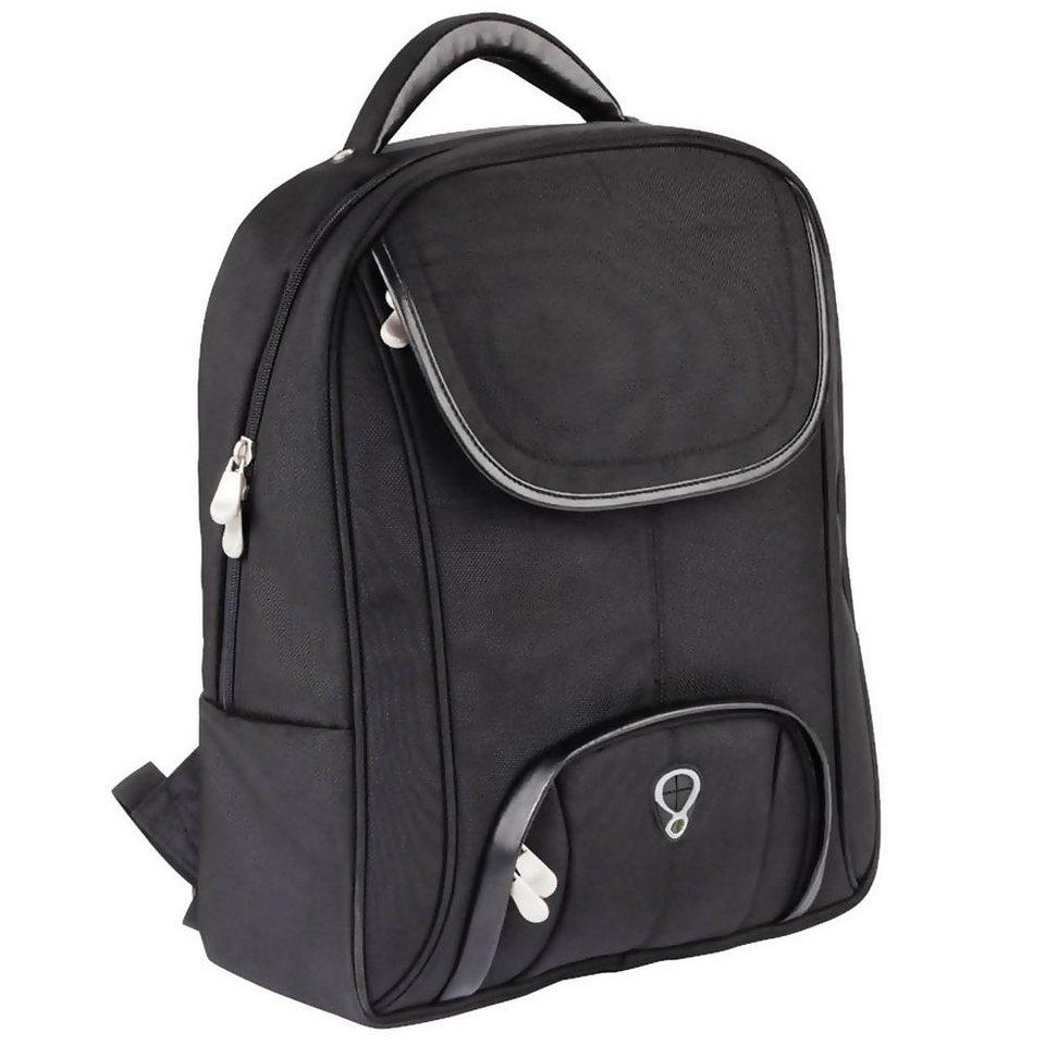 Dermata Rucksack 45 cm Laptopfach in schwarz