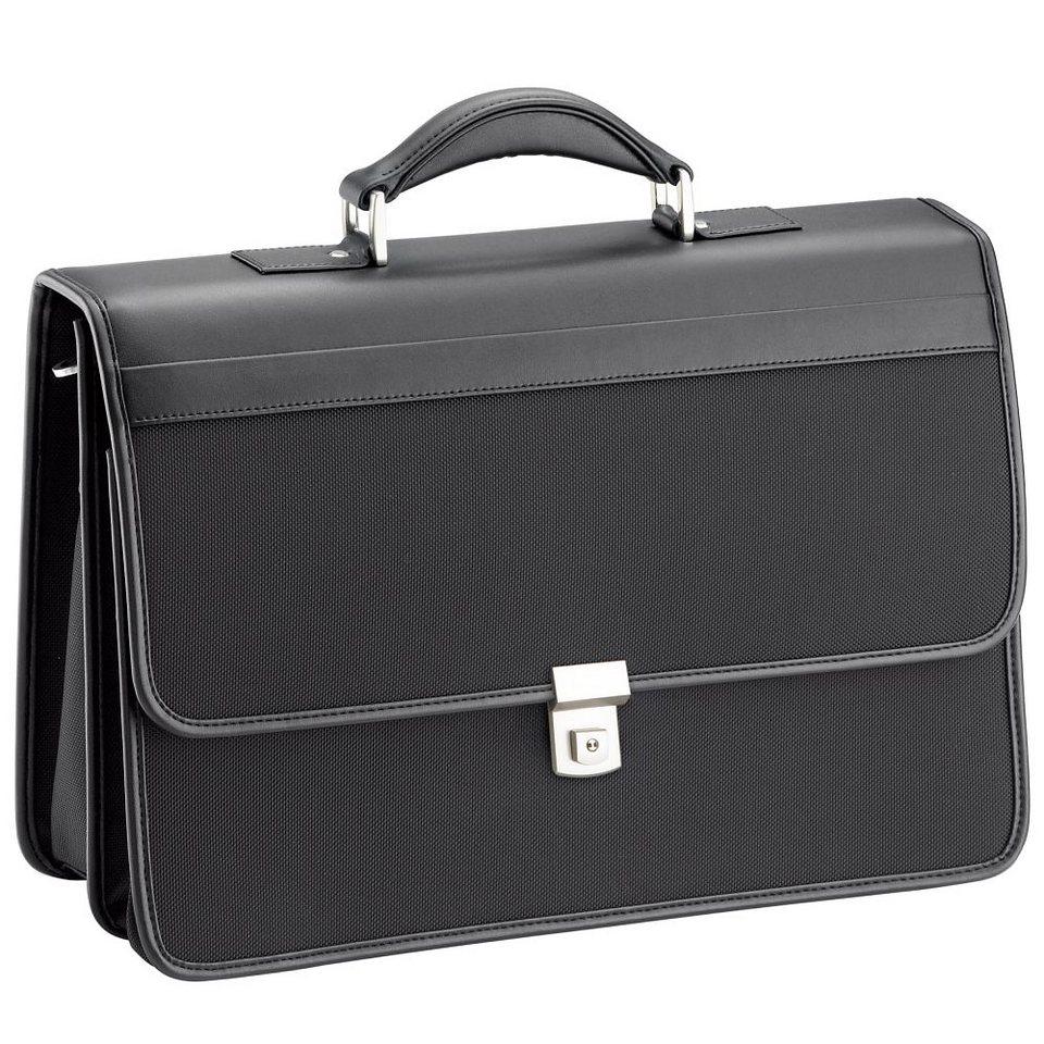 d & n Basic Aktentasche 43 cm Laptopfach in schwarz