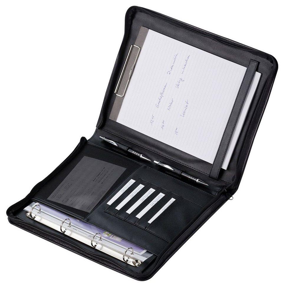 Dermata Schreibmappe 36 cm in schwarz