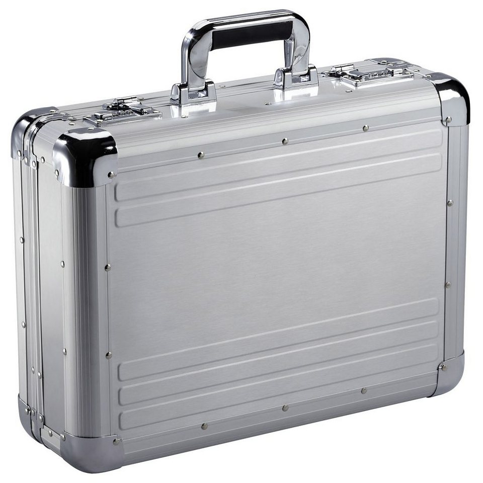 Dermata Aluminum Aktenkoffer 46 cm in silberfarben-matt