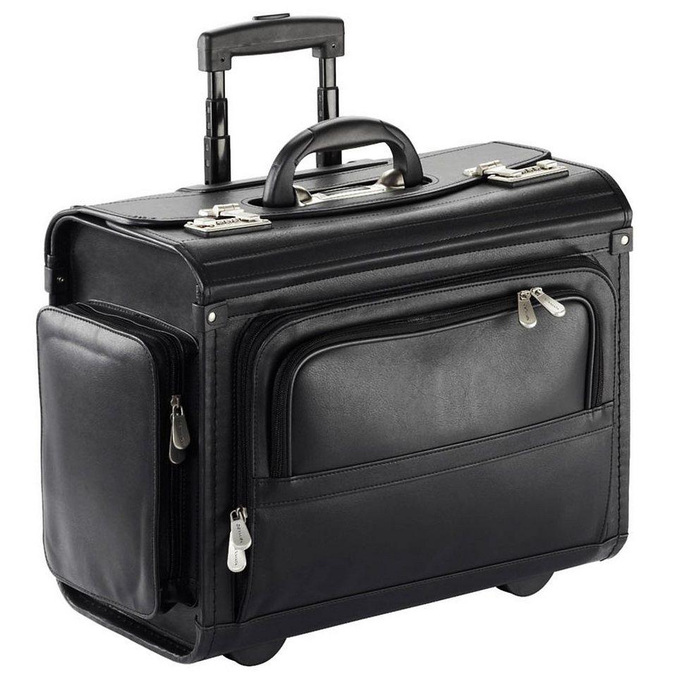 Dermata Pilotenkoffer Trolley 46 cm Laptopfach in schwarz