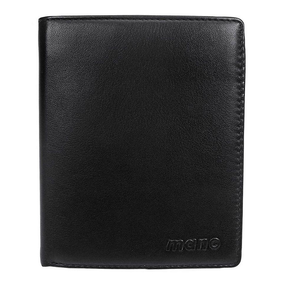 mano Nappa 1000 Geldbörse Leder 10 cm in schwarz