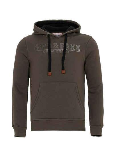Cipo & Baxx Kapuzensweatshirt »Tribe« mit Markenlogo