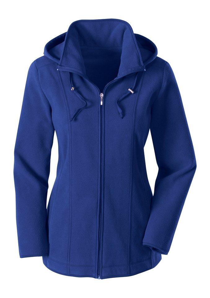 Collection L. Fleece-Jacke in royalblau